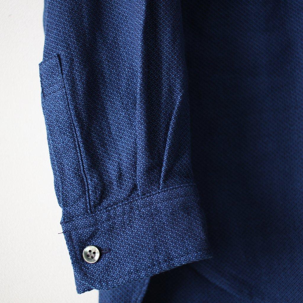 BLUE BLUE JAPAN | ブルーブルージャパン ナナメクズシ バンドカラーLSシャツ #indigo