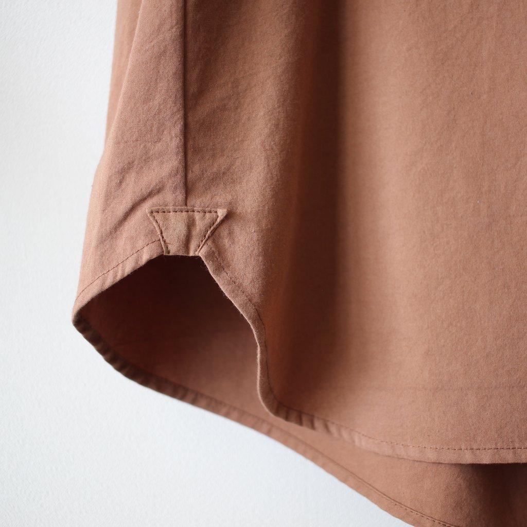 susuri | ススリ ヘムレンシャツ #brown