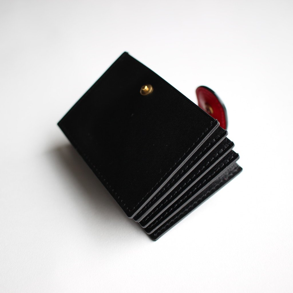 R&D.M.Co- OLDMAN'S TAILOR | オールドマンズテーラー LEATHER CARD CASE #black