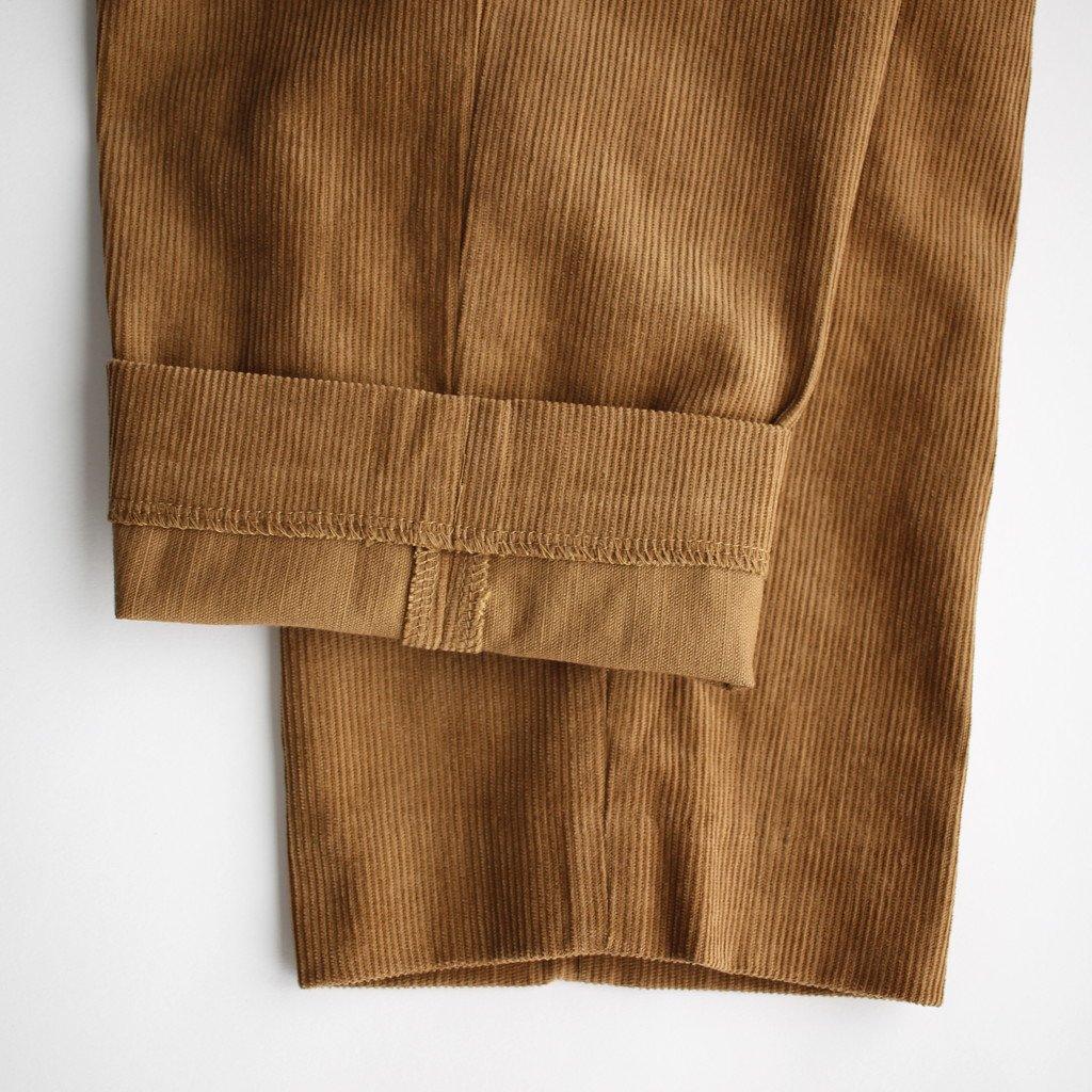 R&D.M.Co- OLDMAN'S TAILOR | オールドマンズテーラー CORDUROY SAROUEL PANTS #brown