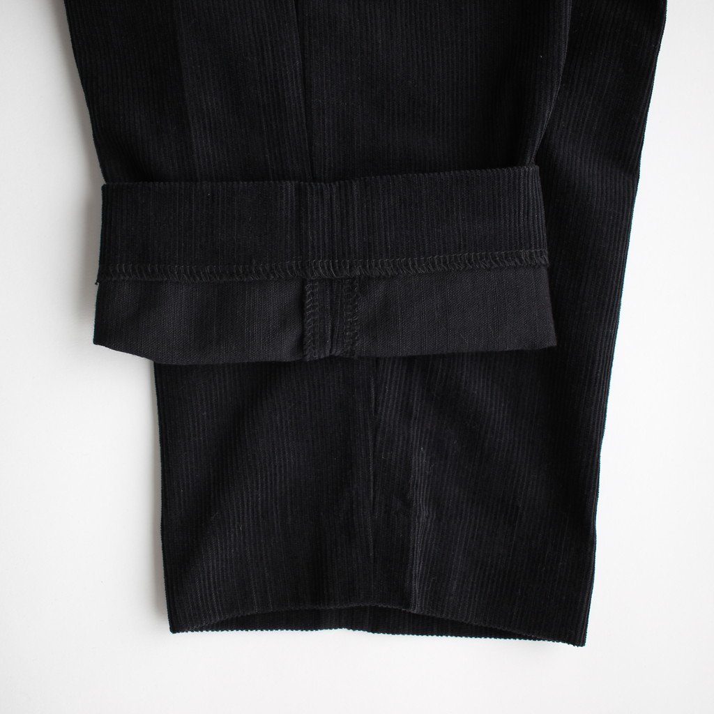 R&D.M.Co- OLDMAN'S TAILOR | オールドマンズテーラー CORDUROY SAROUEL PANTS #black