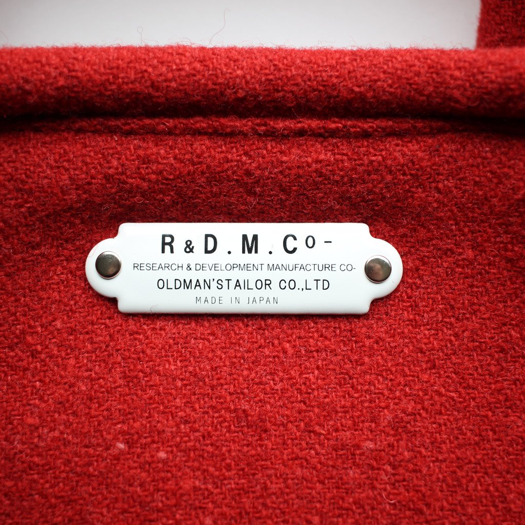 R&D.M.Co- OLDMAN'S TAILOR | オールドマンズテーラー RED TWEED MARCHE BAG SMALL #red