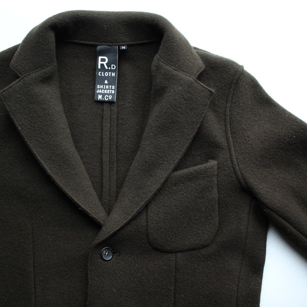R&D.M.Co- OLDMAN'S TAILOR | オールドマンズテーラー WOOL FELT KNIT JACKET #khaki