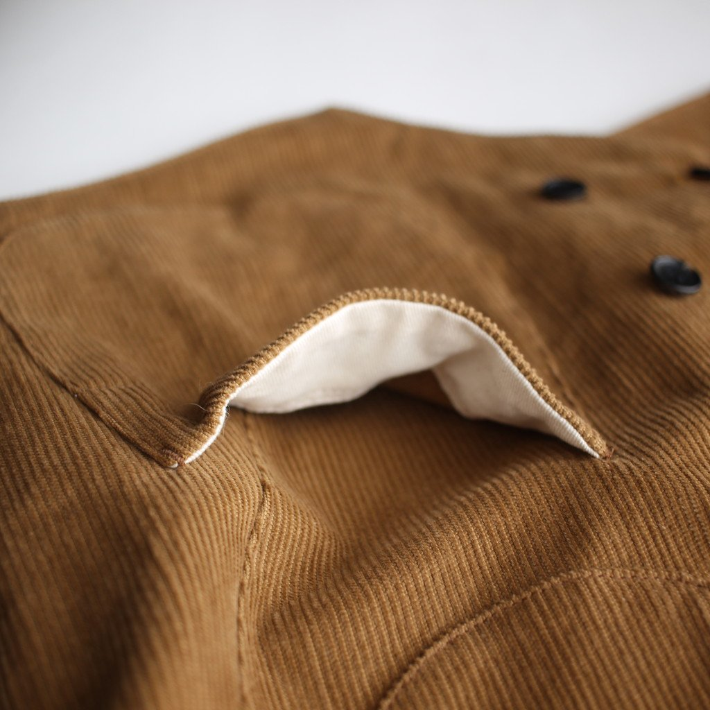 R&D.M.Co- OLDMAN'S TAILOR | オールドマンズテーラー CORDUROY DOUBLE BUTTON VEST #brown