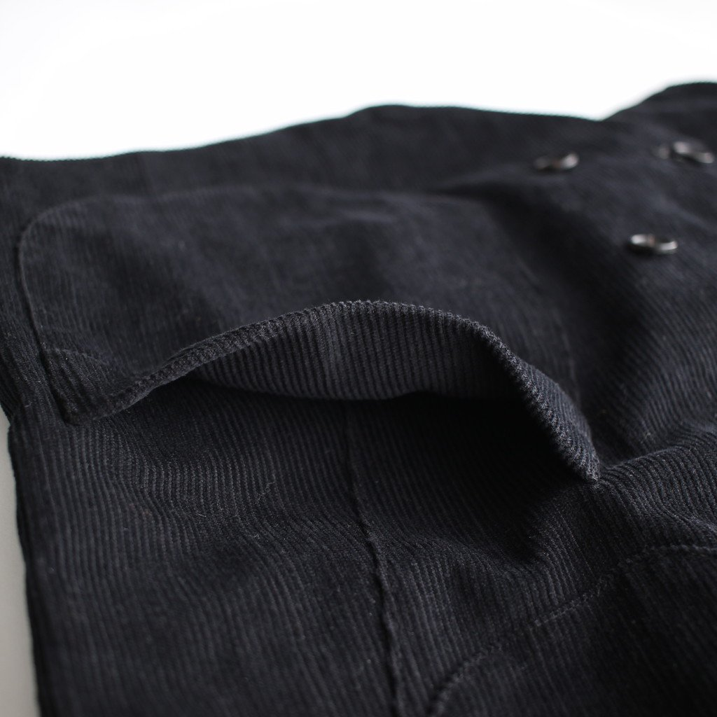 R&D.M.Co- OLDMAN'S TAILOR | オールドマンズテーラー MEN'S CORDUROY DOUBLE BUTTON VEST #black