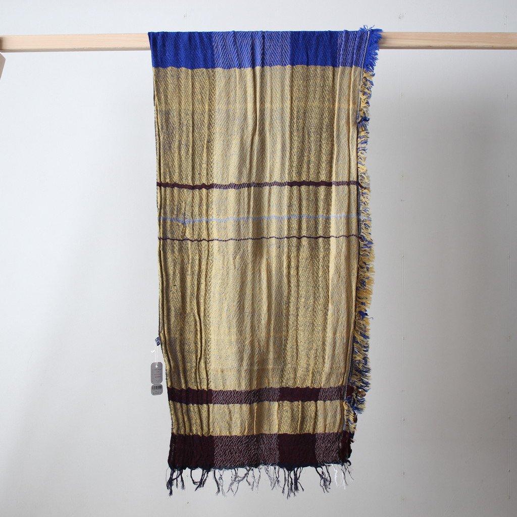 tamaki niime | 玉木新雌 roots shawl MIDDLE wool70% cotton30% #18a003