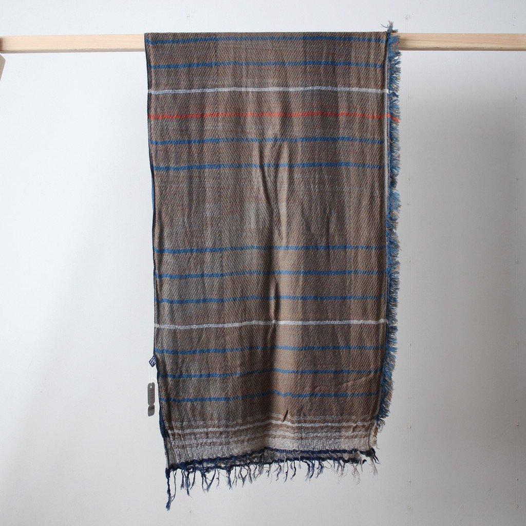 tamaki niime | 玉木新雌 roots shawl MIDDLE wool70% cotton30% #18a004
