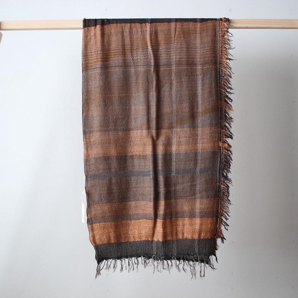 tamaki niime   玉木新雌 roots shawl MIDDLE wool70% cotton30% #18a011