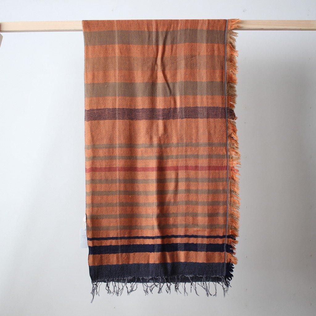 tamaki niime | 玉木新雌 roots shawl MIDDLE wool70% cotton30% #18a012