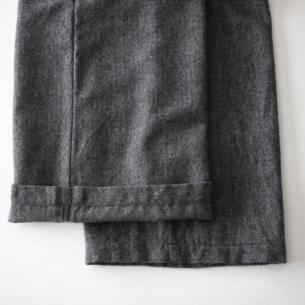 an one | アンワン カシミアウールワイドパンツ #medium gray