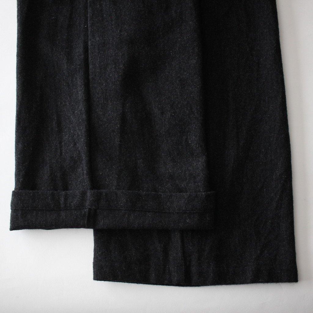 an one | アンワン カシミアウールワイドパンツ #charcoal gray