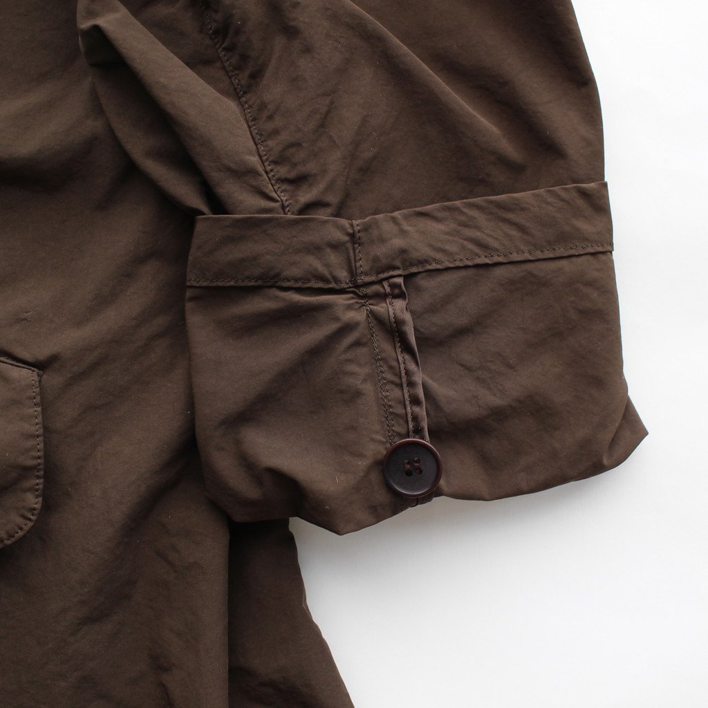 R&D.M.Co- OLDMAN'S TAILOR | オールドマンズテーラー GARMENT DYE SOUTIEN COLLAR COAT #brown
