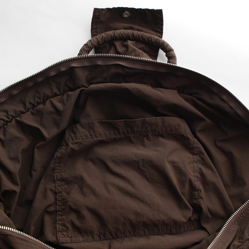 R&D.M.Co- OLDMAN'S TAILOR | オールドマンズテーラー GARMENT DYE MARCHE BAG #brown