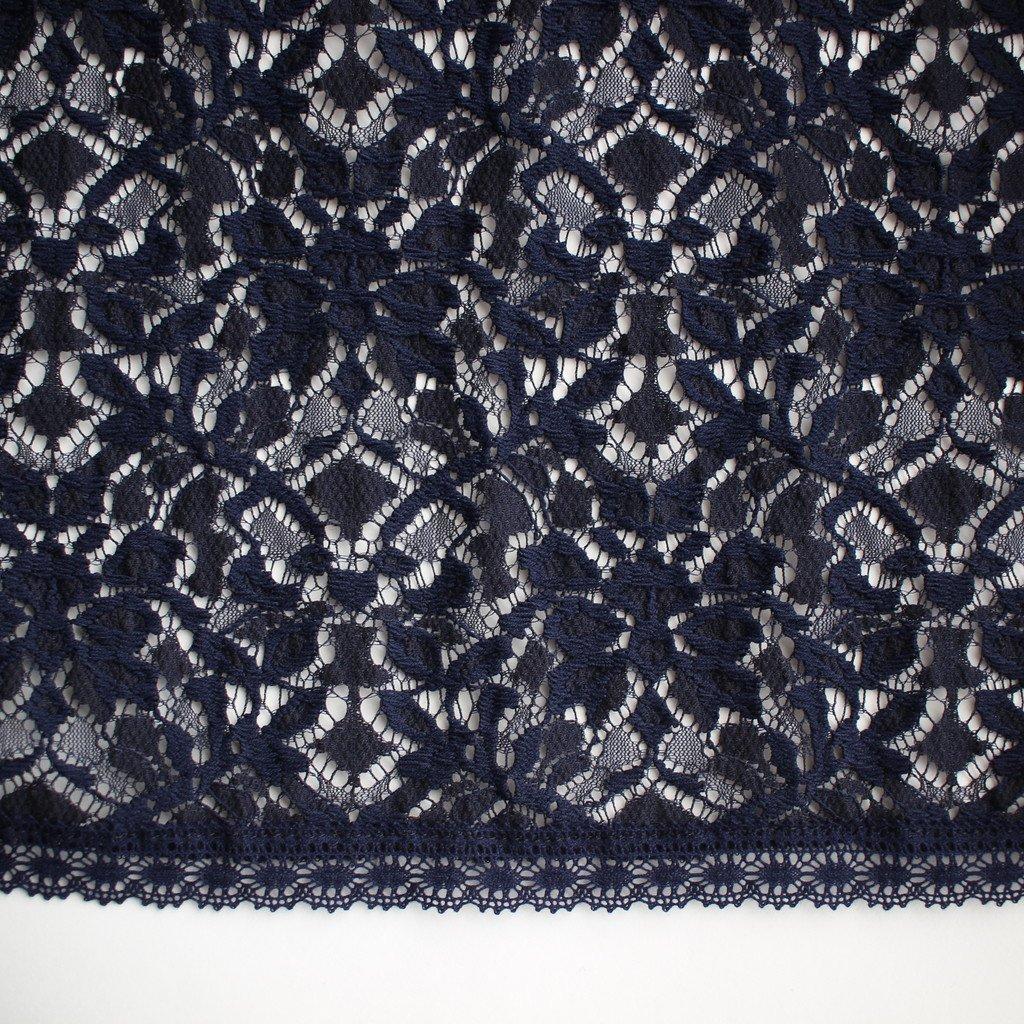 BLUE BLUE JAPAN | ブルーブルージャパン レースギャザーロングスカート #one