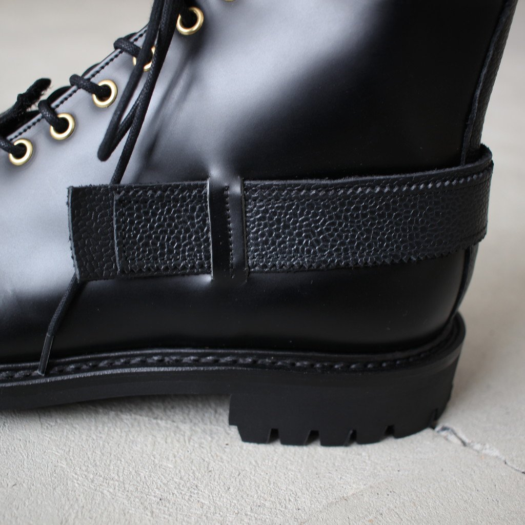 TOE PATCH AND STRAP BOOTS #black