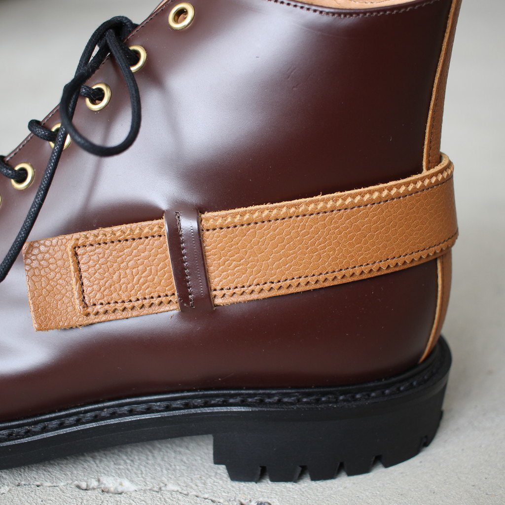 TOE PATCH AND STRAP BOOTS #brown