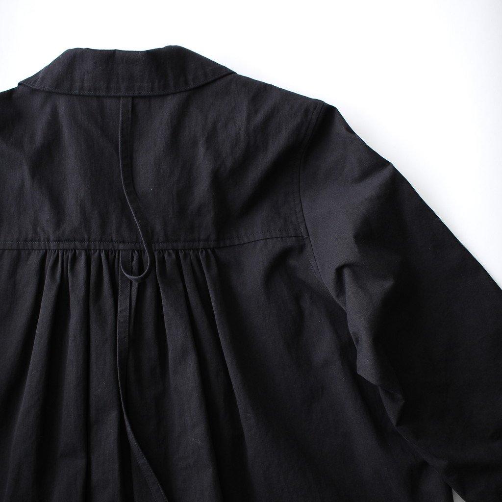 susuri | ススリ ドロシーシャツコート #black