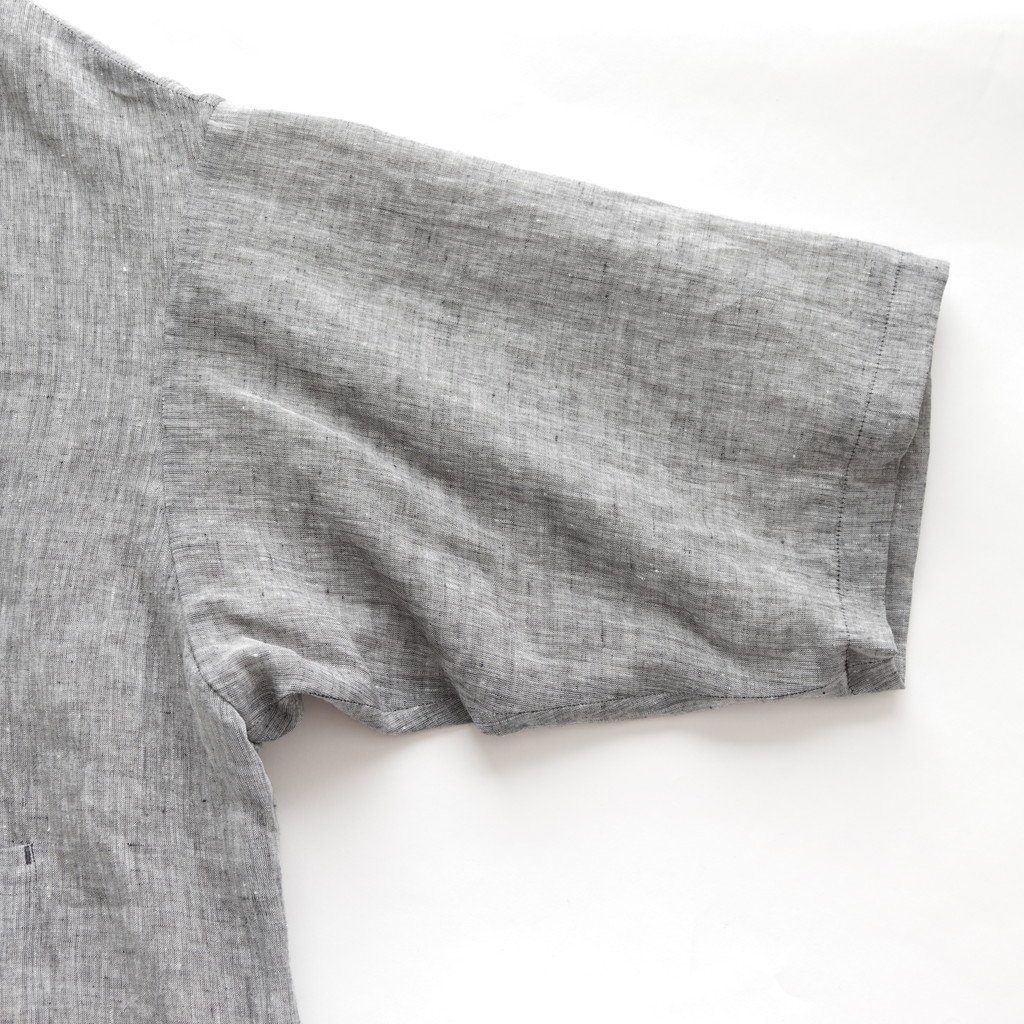 LINEN OVER SIZE COAT #CHAMBRAY [no.2927]