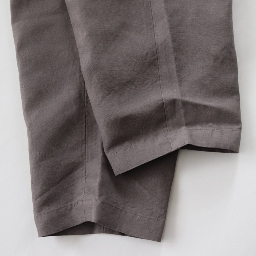 ビスコースリネン テーパードパンツ #モカグレー [181-498]