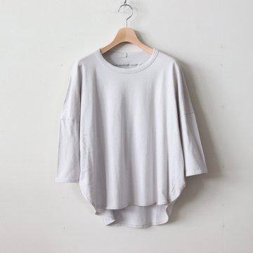 スーピマオーガニックコットン サークルTシャツ #アイスグレー [181-504]