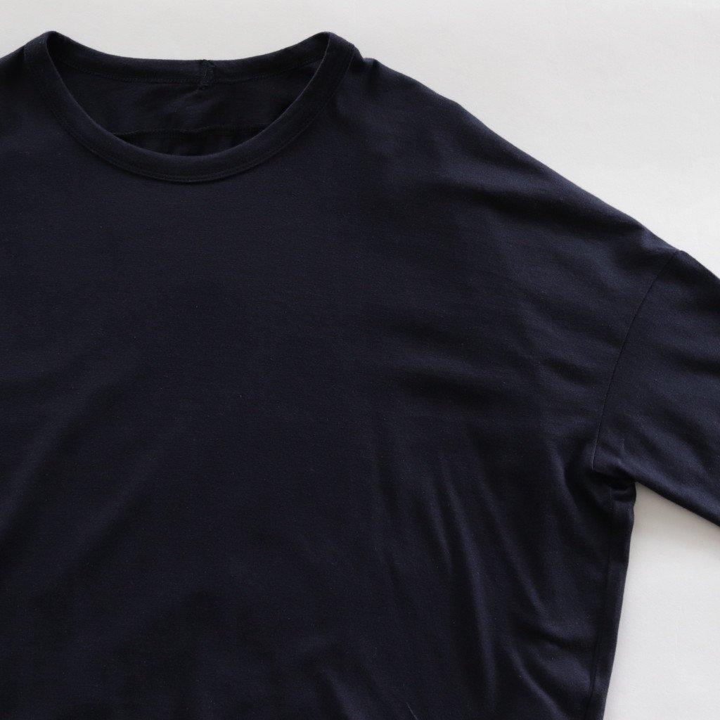 スーピマオーガニックコットン サークルTシャツ #ネイビー [181-504]