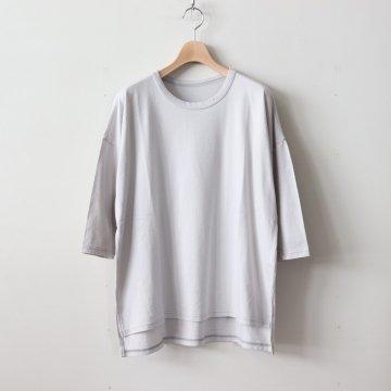 スーピマオーガニックコットン スクエアTシャツ #アイスグレー [181-505]