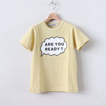 ARE YOU READY? T SHIRT #LIGHT YELLOW [no.3032]