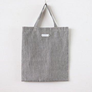 LINEN HICKORY BAG #BLACK/WHITE [no.3060]