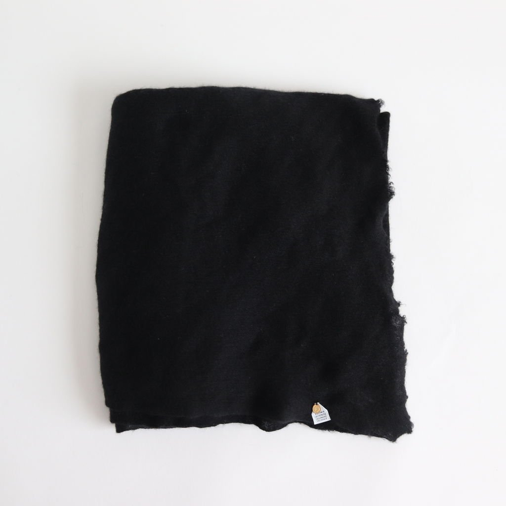DELAUNAY CASHMERE STOLE #BLACK [A232162FM290]