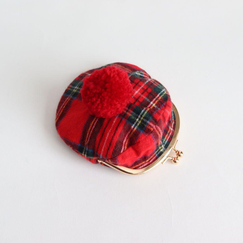 SCOTCH TARTAN FLANNEL COIN PURSE #RED [no.3264]