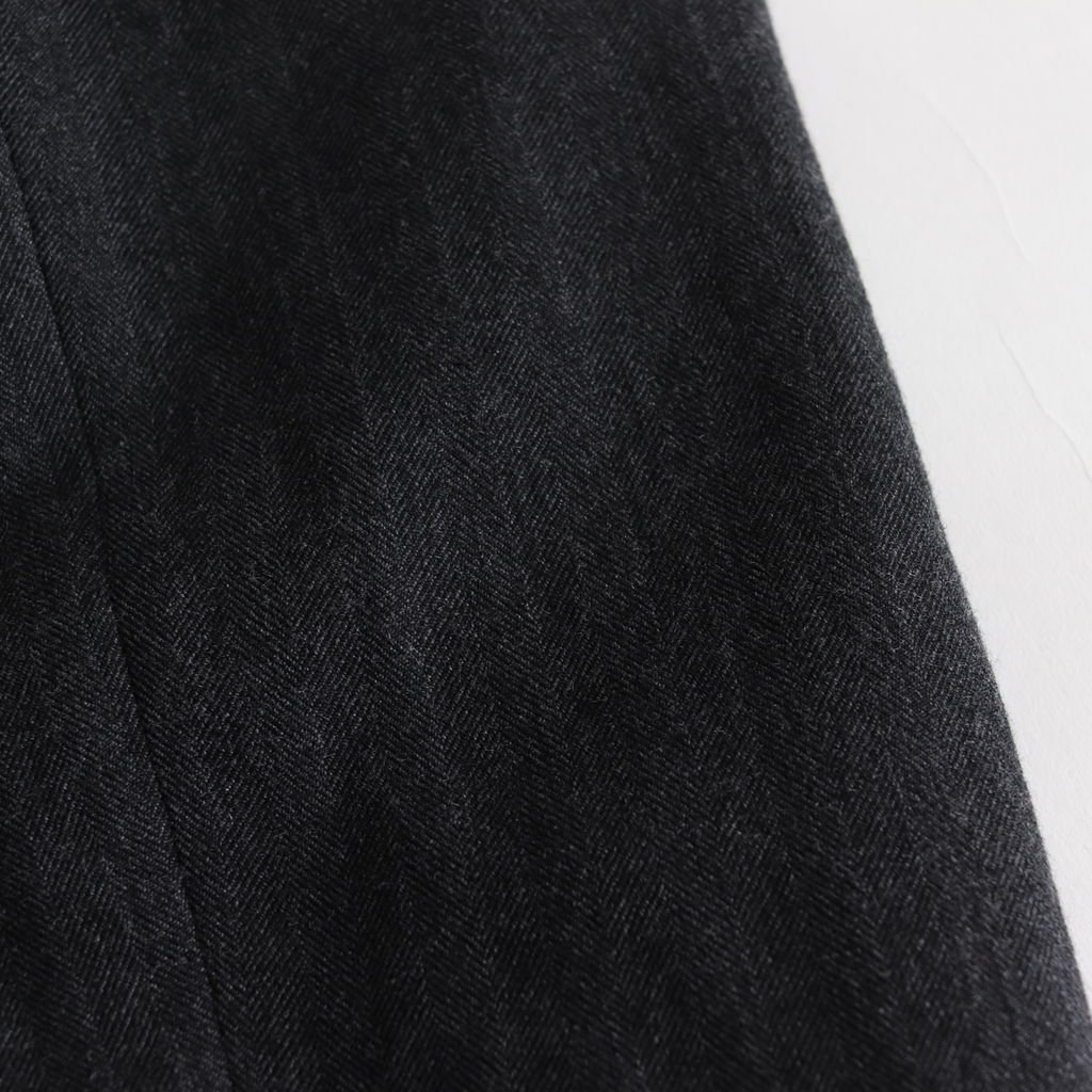 ウールリネンヘリンボーン サロペット #CHARCOAL GRAY [182-532]