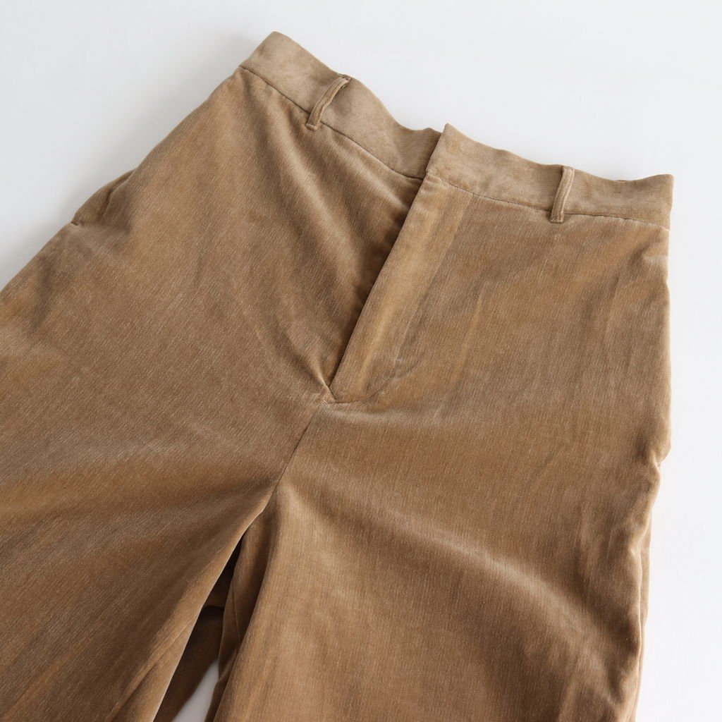 VELVET WIDE PANTS #BEIGE [no.3232]