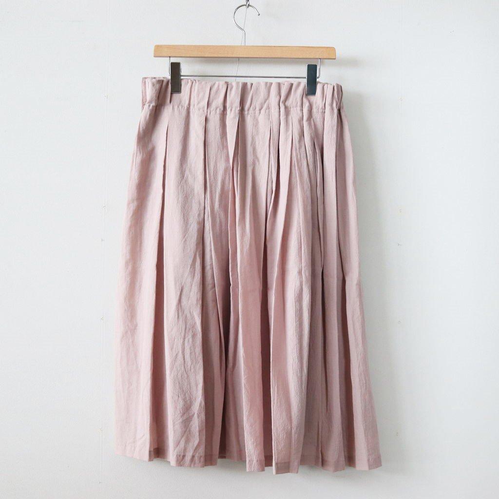 シルクコットンローンプリーツスカート #PINK [SK19209]
