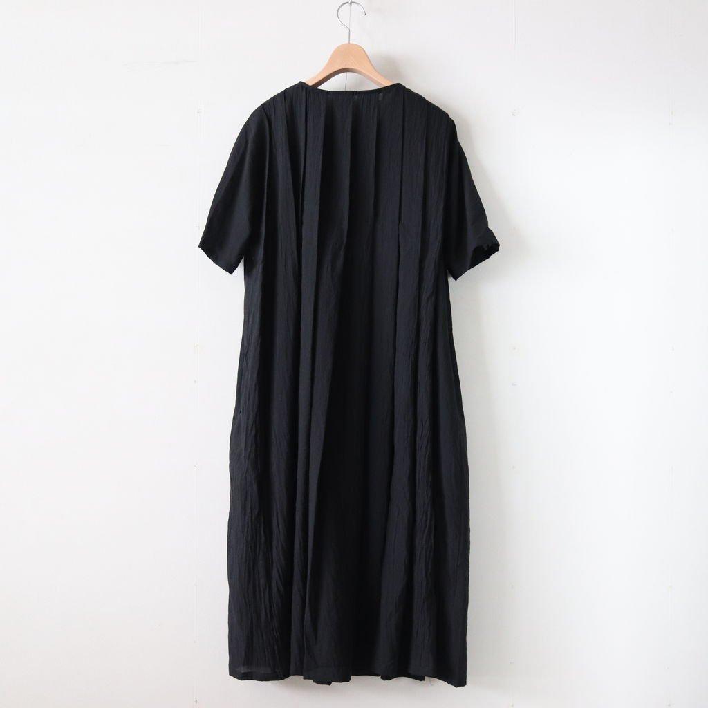 シルクコットンローンプリーツワンピース #BLACK [OP19210]