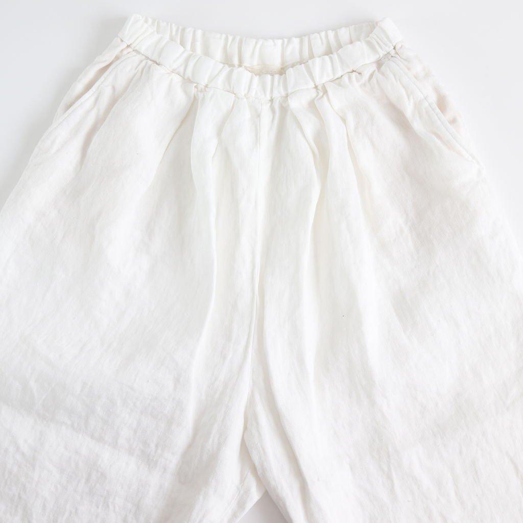 リネンデニムタックパンツ #WHITE [191-539]
