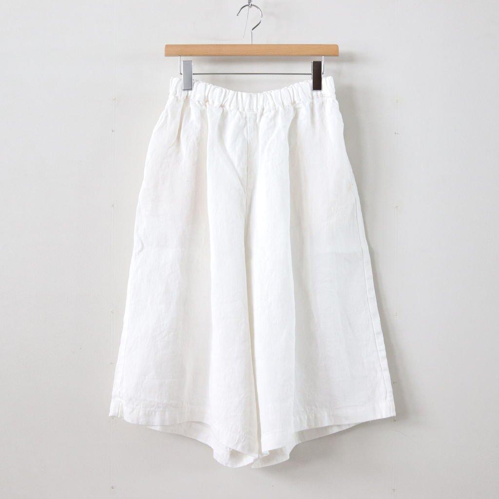 リネンデニムスカートパンツ #WHITE [191-540]