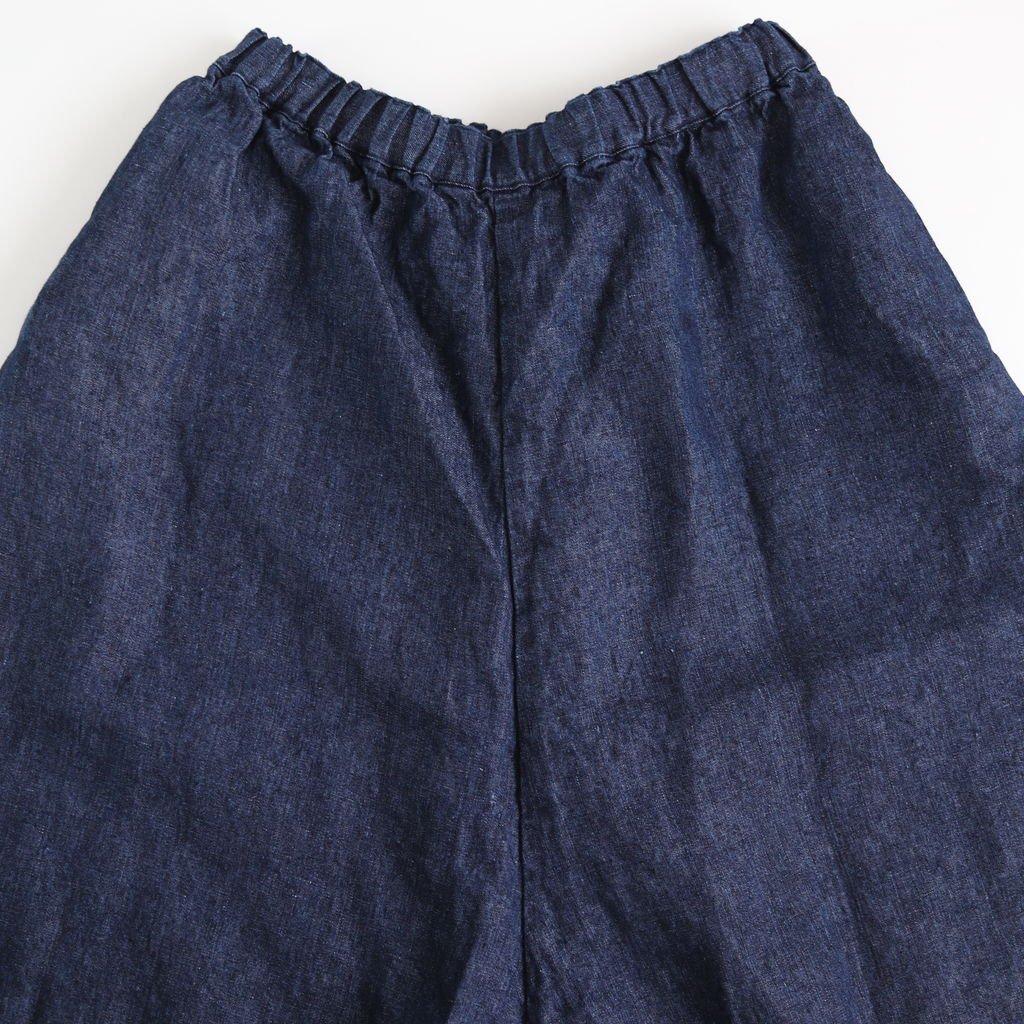 リネンデニムスカートパンツ #INDIGO [191-540]