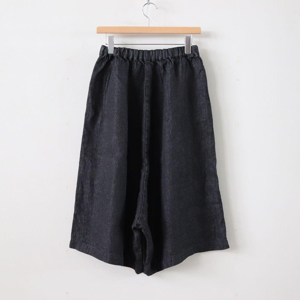 リネンデニムスカートパンツ #INDIGO BLACK [191-540]