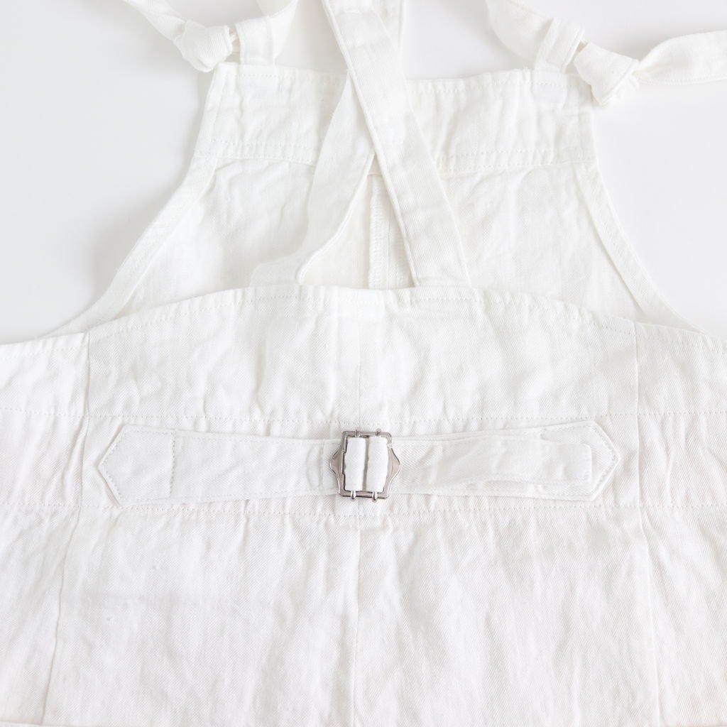 リネンデニムサロペット #WHITE [191-555]