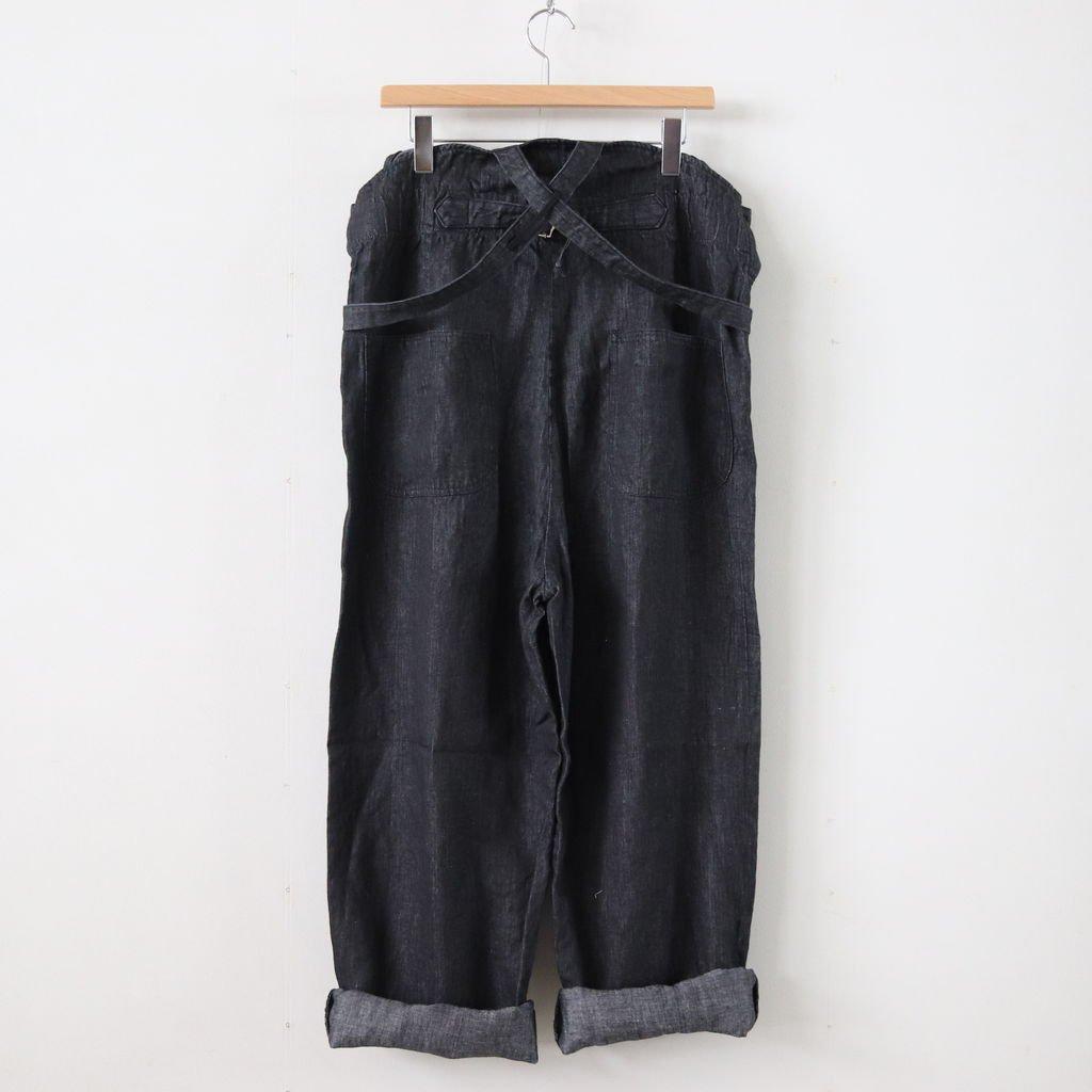 リネンデニムサロペット #INDIGO BLACK [191-555]