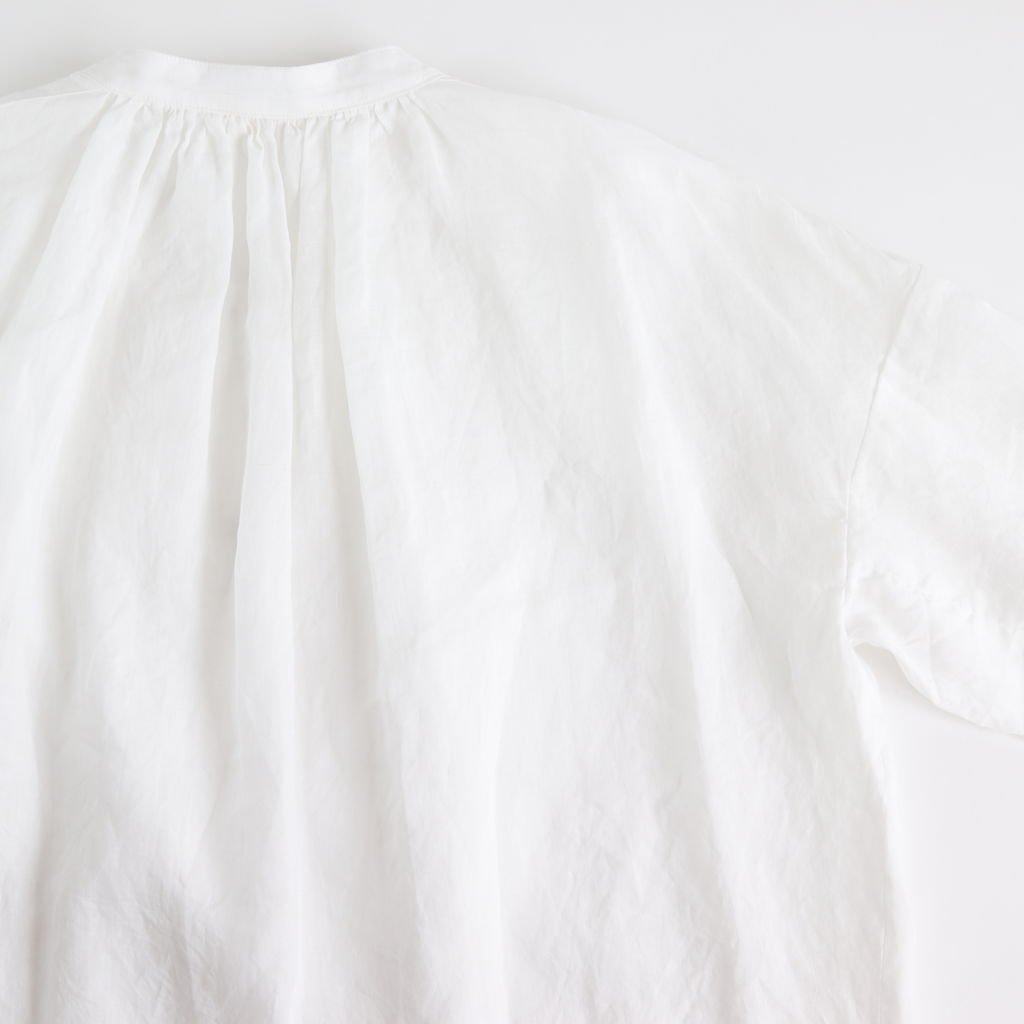 ラミースタンドカラーブラウス #WHITE [191-558]
