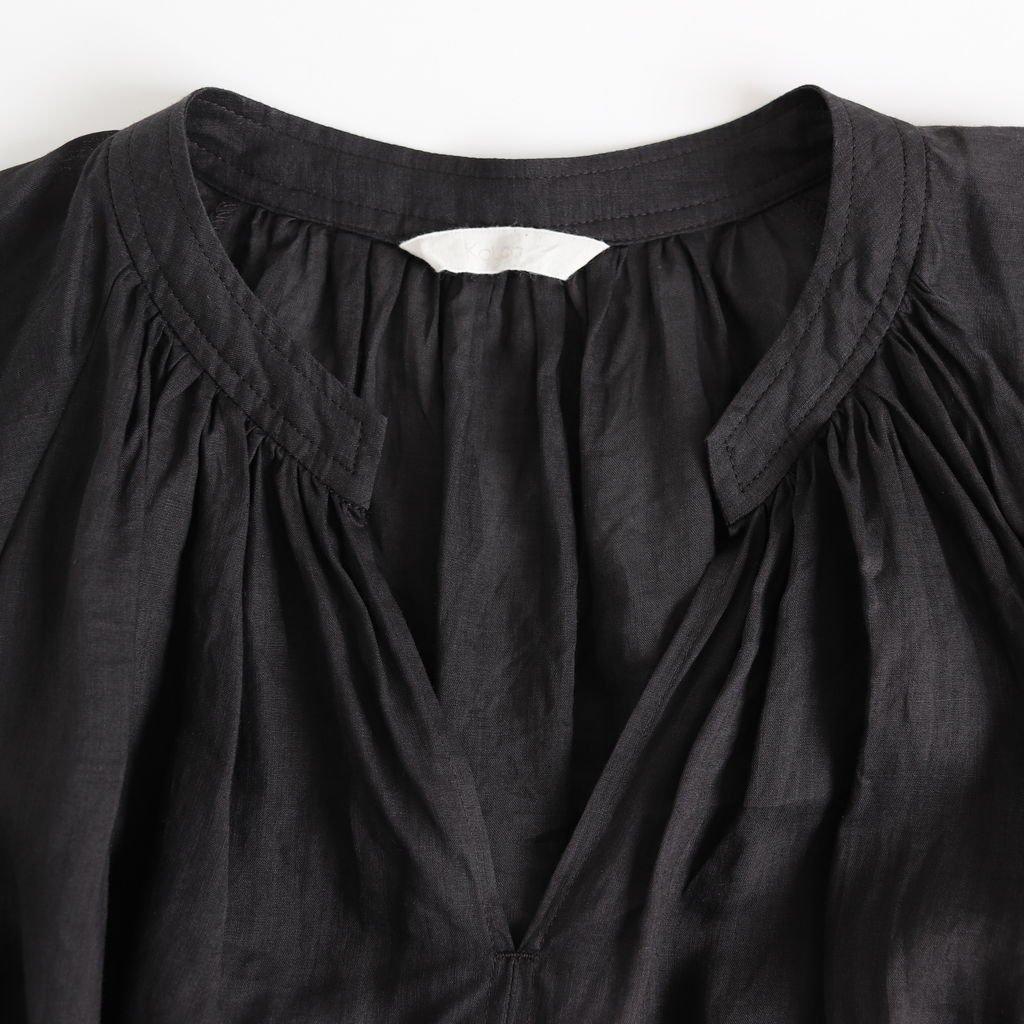 ラミーロングチュニック #BLACK [191-556]
