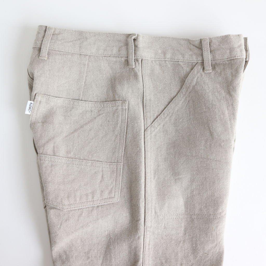 LINEN CANVAS WORK PANTS #FLAX [no.3451]