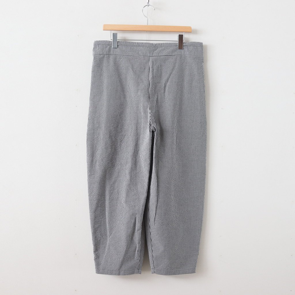 BAROUH PANTS COTTON #WHITE/BLACK CHECK [A232141PP131]