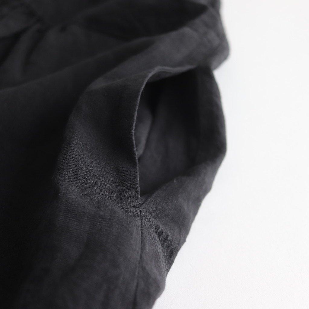 リネンフロントギャザーワンピース #BLACK [191-545]