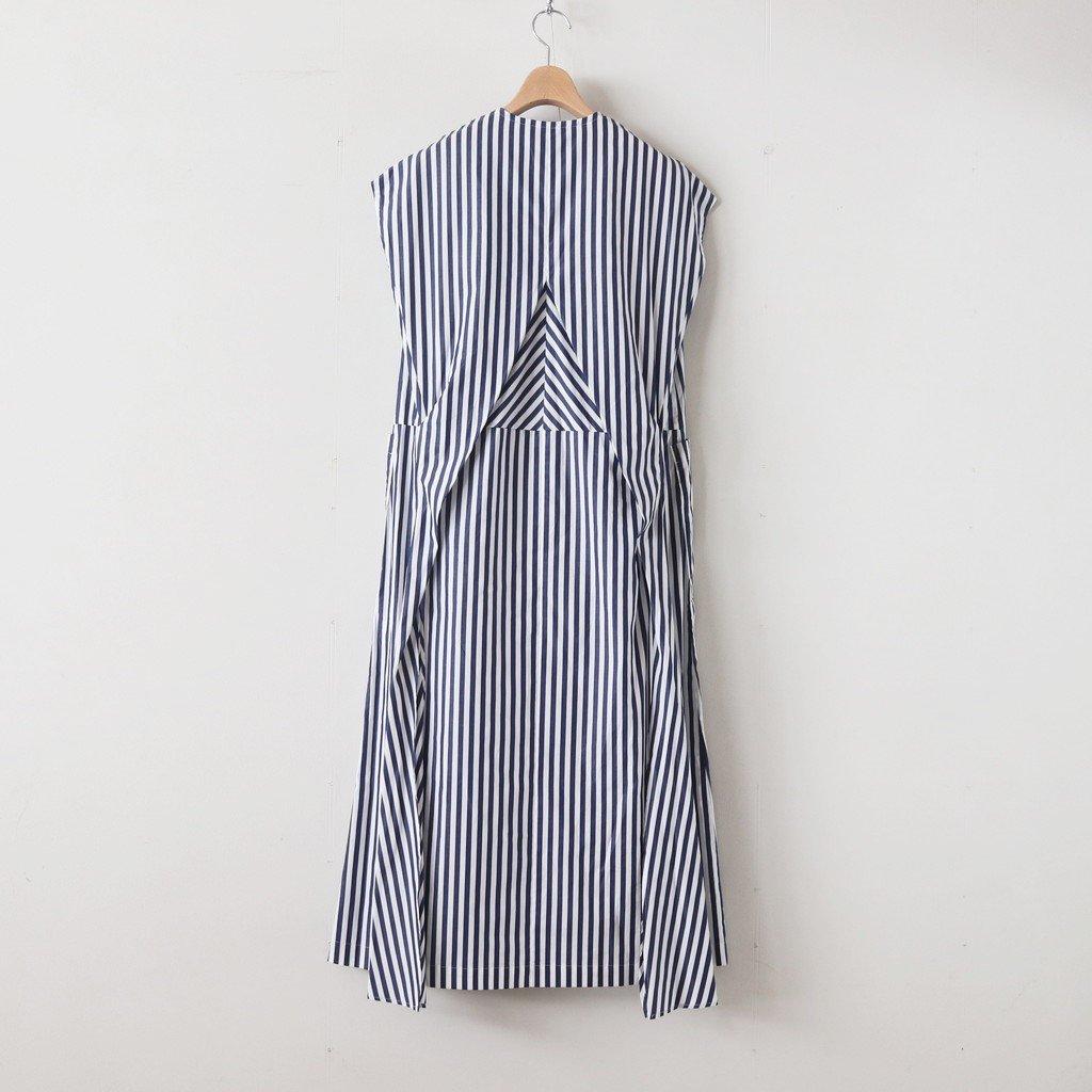 H/T NO SLEEVE TIE DRESS #LONDON STRIPE [no.3620]