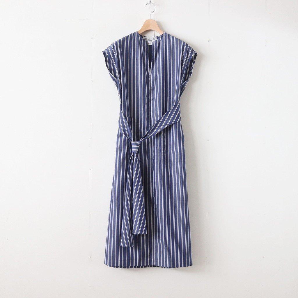 H/T NO SLEEVE TIE DRESS #STRIPE [no.3620]