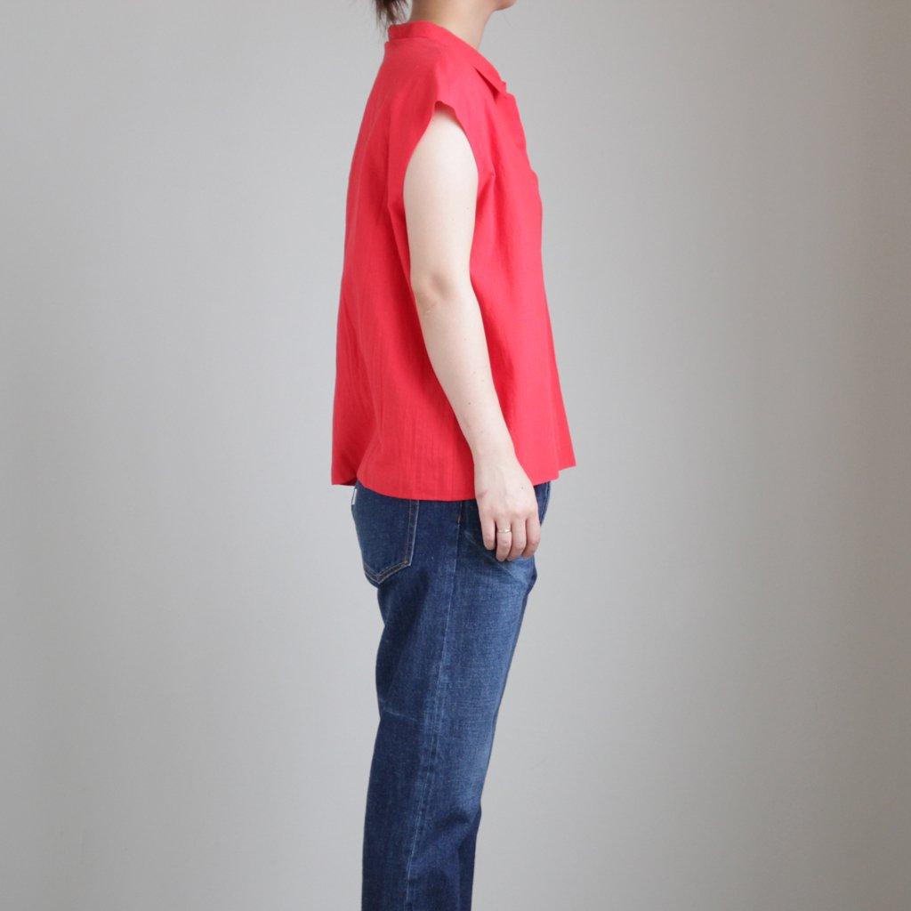 STUCK COTTON SHIRTS #RED [A232191TS351]
