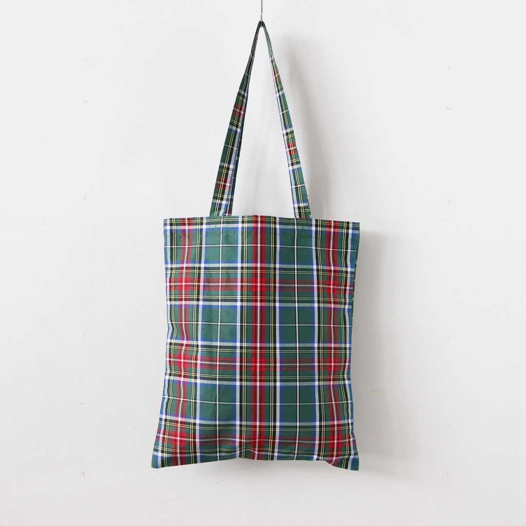 S/R TOTE BAG #TARTAN CHECK GREEN [no.3554]