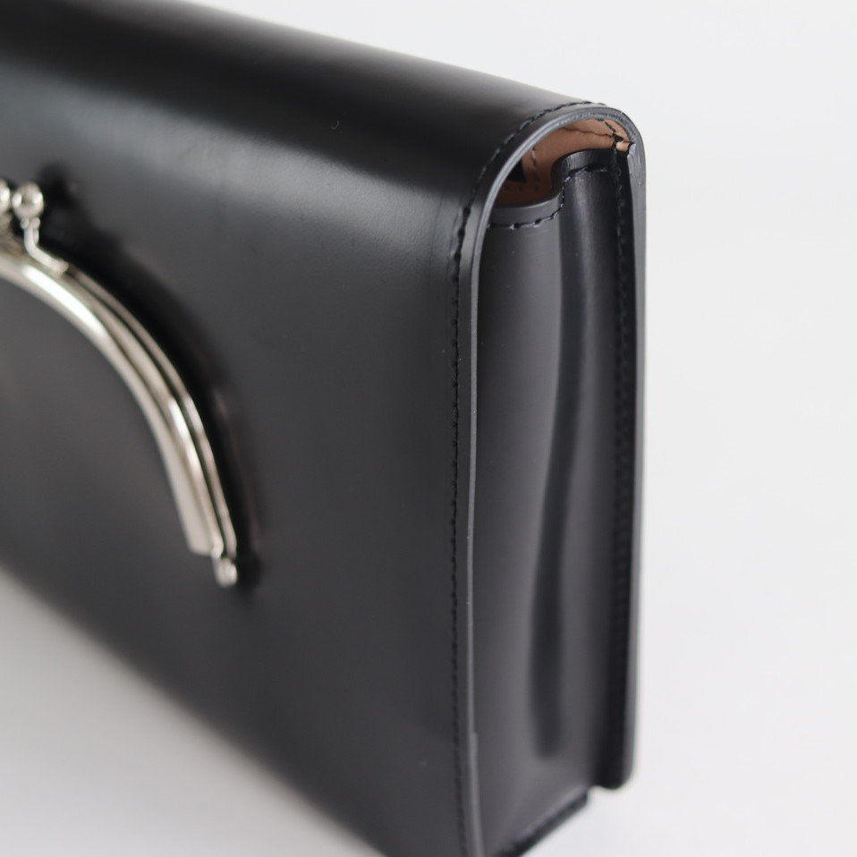 LEATHER WEST BAG #BLACK [no.3670]